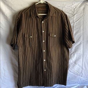 Perry Ellis Button Down Shirt L